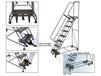 WEIGHT - ACTUATED ROLLING SAFETY LADDERS