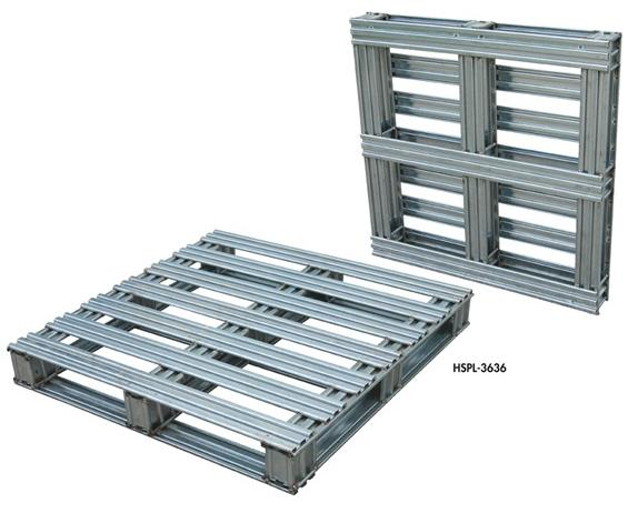 STEEL PALLETS WITH HOT-DIPPED GALVANIZED FINISH